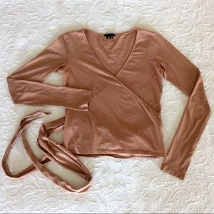 Theory Ballet-style wrap top!  Long sleeve.